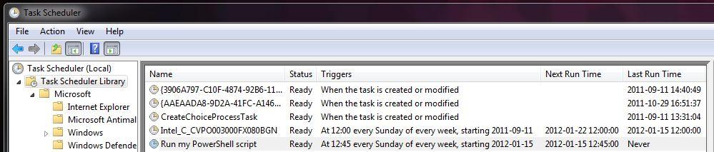 Windows Task Scheduler Library
