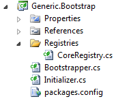 MVP solution Visual Studio 2010 solution explorer, Generic.Bootstrap.
