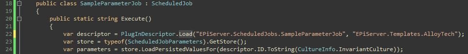 Troubleshooting the scheduled parameter job, Loading the plugin descriptor.