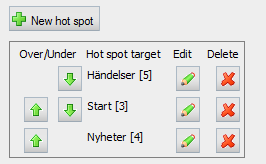 EPiServer 5 css styles for the hot spot table in edit mode.