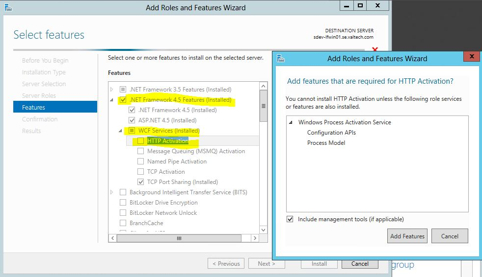 WCF HTTP Activation on Windows Server